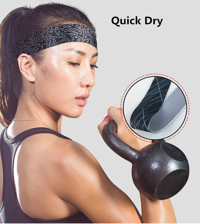 1pc Hot Sale Sports Yoga Gym Stretch Headband Head Band Hair Band Sweat Sweatband Mens Women turbante pelomujer