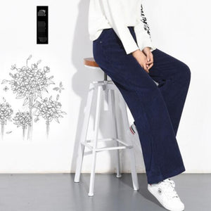 2019 Autumn Winter Corduroy Pants High Waist Long Trousers for Women Plus Size