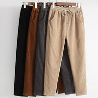 High Quality Female Ankle-Length Pants For Women New Leisure Pants Elastic Waist