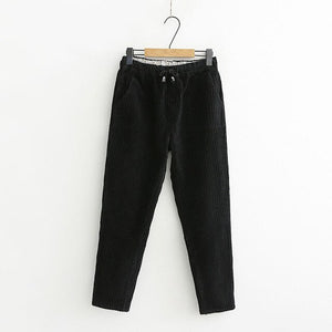 Corduroy Pants Women Vintage Autumn Winter Pants Women Sweatpants Casual