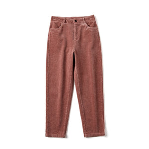 High Waisted Harem Pants Women Loose Casual Pink Pants For Women Button High