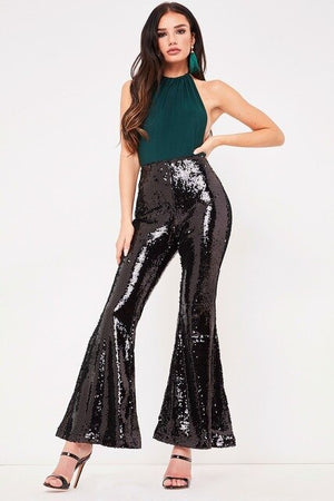 Sexy nightclub women's multicolor sequin horn pants diamond nightclub sequin party glitter ladies tights