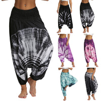 Women Men Pants Casual Woman Thai Wide Leg Harem Trousers Baggy Boho Loose Aladdin Festival Hippy Smock Jumpsuit High Waist pant
