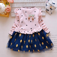 BibiCola Spring Baby girls dress infant gilr thicnk warm dress Clothes winter baby girl birthday Dress Toddler Girls Party Dress