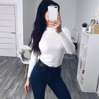 Soft Turtleneck Sweater Women Winter Autumn Knitted Sweaters Christmas Sweater Basic Women Pullover Sweater Pull Femme Jumper