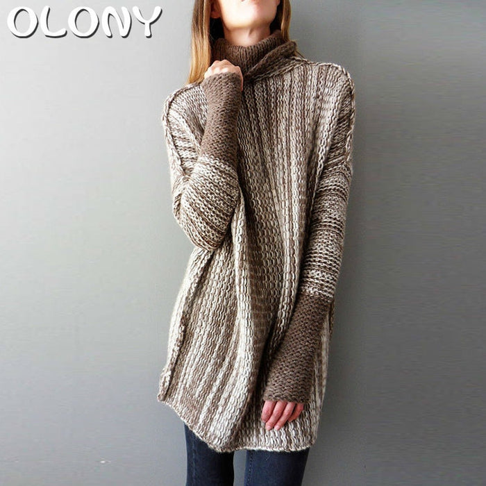 Vintage Sweater In A Long Variegated High Collar Color 2019 OLONY befree