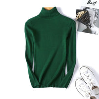 Slim Soft Sweater women winter 2019 Autumn turtleneck Sweater knit Thick Pullover oversize femme Jumpers ladies black sweaters