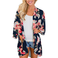 Summer Kimono Cardigan Womens Tops And Blouses Woman Clothes