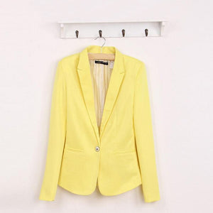 Blazer Women Suit Fashion Candy Color Blazer Suit Sleeve1
