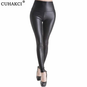 Leather Leggings Women High Waist Black Leggings Sexy Legging