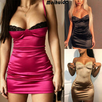 Plus Size Women Sleepwear Sexy Lingerie Dress Robe Night Dress Lace Stretchy Satin Babydoll Chemise Nightgown