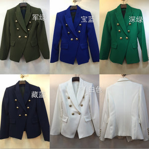 2018 spring new women double breasted slim blazers coat 11 color