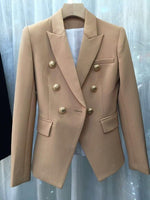 WOMAN HIGH QUALITY BLAZER GOLD BUTTONS OFFICE LADY WORK WEAR
