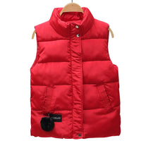 autumn winter women vest cotton-padded short waistcoat plus size