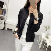 Korean Women's Bomber Jacket Spring Autumn White Coat Short Casual Jacket Women Coats and Jackets Veste Femme X1010 YY180