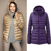 Fashion Zipper Womens Ultra Thin Warm Jackets Brands Casual Slim Short Warm
