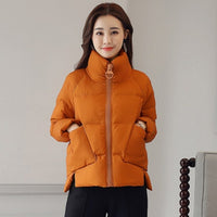 Jacket Women Down Padded Parka Thicken Plus Size Loose Long Sleeve Outerwear Ladies