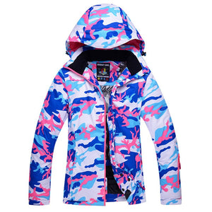 2019 Women Ski Jacket Camouflage Style Winter Clothing Snowboard Jacket Thermal