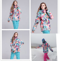 2018 new skiing jacket snowboarding jacket waterproof women snow suit for women jacket To keep warm -30