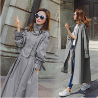 Brand new Fashion 2019 Autumn Trench Coat Women Solid Casual Simple Classic Maxi Trench Long coat Chic Female windbreaker 644