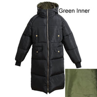 Snow Long Coat Female Hooded Oversized Ladies Warm Puffer Quilted