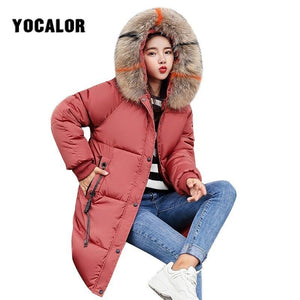 Coats Cotton Long Coat Quilted Puffer Jacket Women Warm Parka Feminina Outerwear