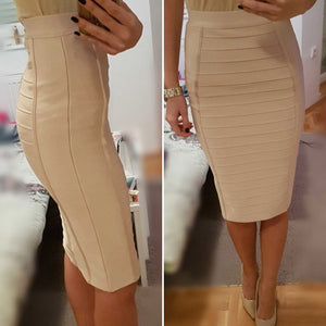High Waist Skirts Women Sexy Pencil Bodycon Skirts Knee-Length Bandage Skirts