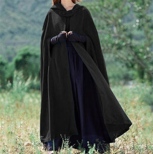 fashion Women Winter Cape Cloak Outwear Irregular Cloak Hooded Coat Vintage Gothic Cape Poncho Cardigan Coats female Shawl W3