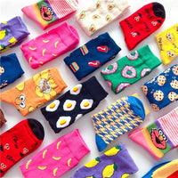 2021 cartoon skateboard Socks