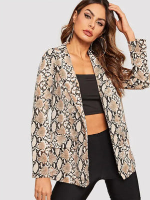 Fannic Women's Jacket Is A Long-sleeved Sport Coat Paired With A Printed