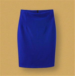 2015 Summer Brand New Slim Fitted High Waist Knee Length Career Pencil Skirt Bodycon OL Skirt Plus Size Women Clothing