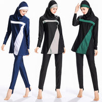 2019 New 3 Pieces Separated Burkinis Muslim Swimsuit Modest Clothing