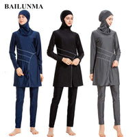 BAILUNMA Burkinis Muslim Swimsuit Modest Clothing Islamic Swim Wear