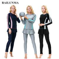 BAILUNMA Burkinis Muslim swimwear Islamic Swimsuit Full Cover
