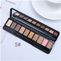 Eyeshadow Palette 10 Colors Makeup Pigments Waterproof Make up Palette Brown/black/blue pink/purple/white/green/gray/yellow/red