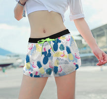 Women Printed Beach Shorts Quick Dry Running Shorts Swimwear Swimsuit Swim