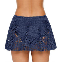 Women Bikini Bottom Swimwear Ladies Summer Sexy Solid Lace Shorts Skirt Monokini Crochet Swim Beach Pantskirt  Out Holiday