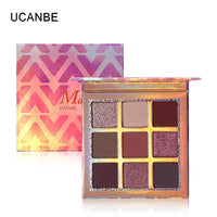 UCANBE Cosmetic 9 Colors Palette Eyeshadow Shimmer Eye Shadow Palette Matte Glitter Palette Make Up  Pallete