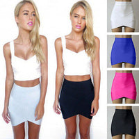 Lady Sexy Mini Skirt Slim Stretch Tight Short Fitted Candy Skirt Size XS-L