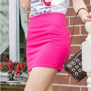 A-Line Casual Sexy Slim Fit Upper Thigh Tight Pencil Womens Pure Ladies Cotton Simple Skirt Casaul Work High Waist