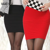 NIBESSER High Waist Pleated Bodycon Skirt Short Elastic Mini Sexy Slim Tight Pencil Night Club Party Candy Skirt