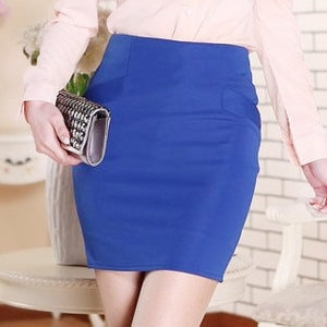 Plus Size 5XL High Waist Summer Style Women Skirts Candy Color Casual Club Elastic Pencil Short Mini Bodycon Skirt Saias Lapis