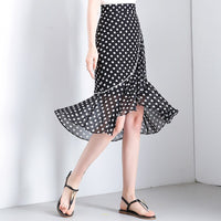 Chiffon Skirts 2019 Summer Women high Waist print mermaid Skirt