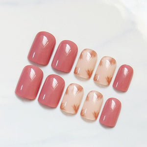 Fake Nail With Sided Adhesive Cute Full Wrapped Nail Tips Art Decoration