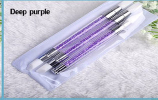 3pcs/set Silicone Nail Art Brushes Color Painting Pen New 2 Sides For Nail Art Rhinestone Manicure Tools