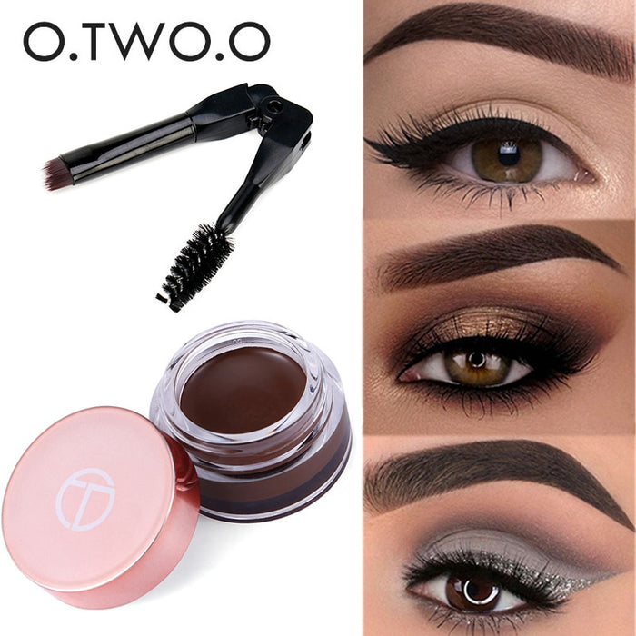 O.TWO.O Eyebrow Cream Gel Waterproof Eye Brow Tint Long Lasting Eyebrow Pomade Natural Chocolate Nude Tattoo Makeup With Brush