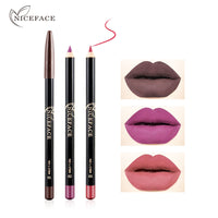 Niceface matte lip liner pencil waterproof long lasting nude makeup lipstick sexy red brown lip contour lip liner pen AE016