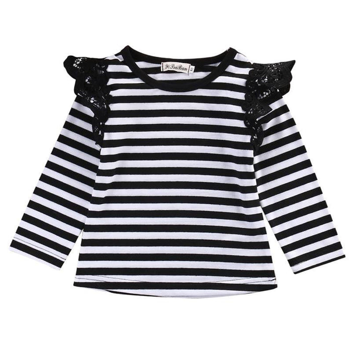 Newborn Toddler Kids Flying Tee Clothes Long Sleeve T-shirts Baby Girls Cute Spring Autumn T-shirt  Tops Outfit Blouse Clothing