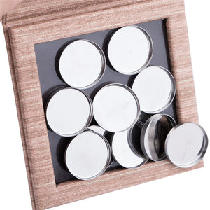 Empty Makeup Palette Magnetic Wood Decorative Empty DIY Eye Shadow Palette Pigment Tray Holder Pattern Box Case
