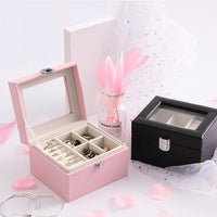 Large Capacity Jewelry Box Exquisite Women Makeup Packaging Display Case Earrings Necklace Bracelet Container Accessories Case
